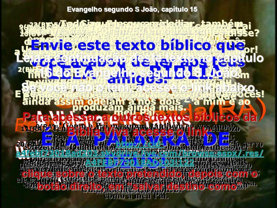 LEIA A BÍBLIA É A PALAVRA DE DEUS!