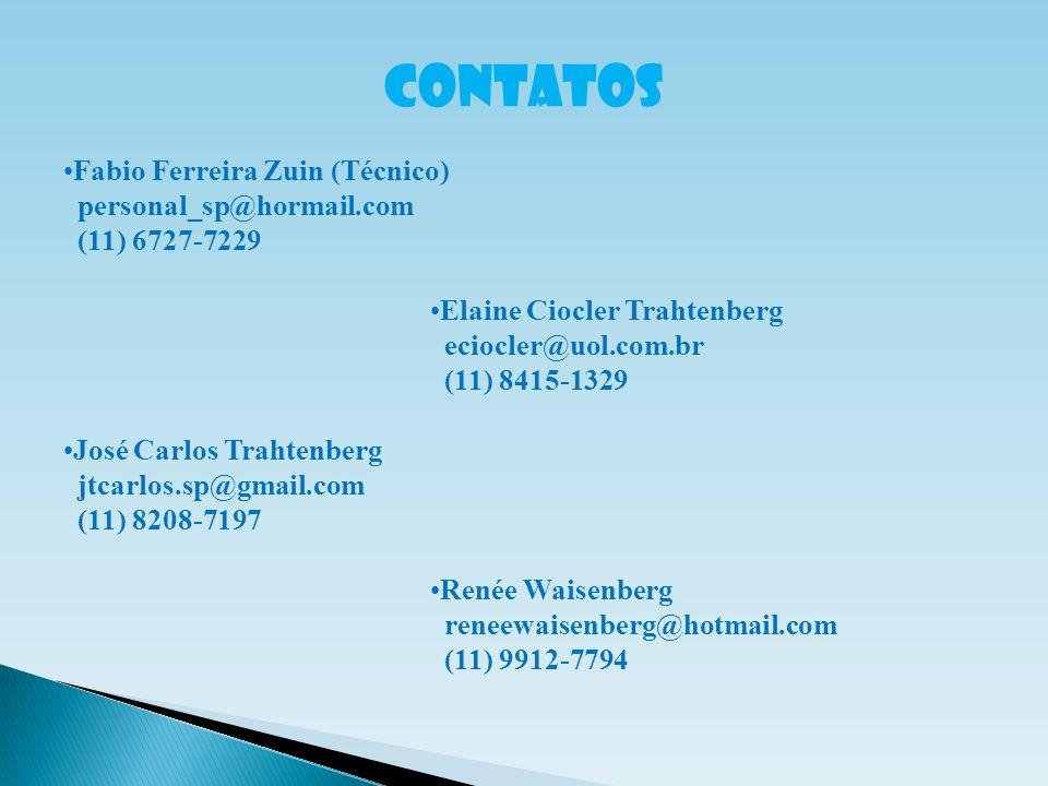 CONTATOS Fabio Ferreira Zuin (Técnico) personal_sp@hormail.com