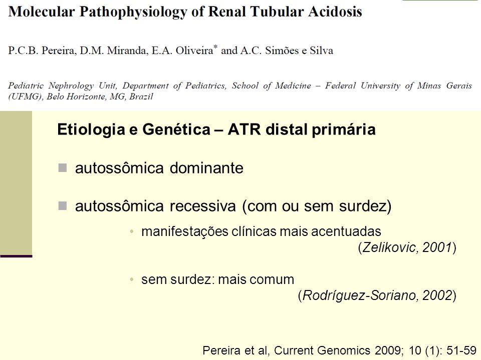 Etiologia e Genética – ATR distal primária autossômica dominante