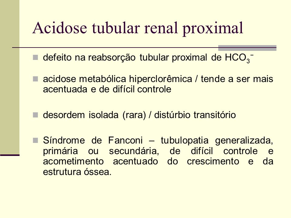 Acidose tubular renal proximal