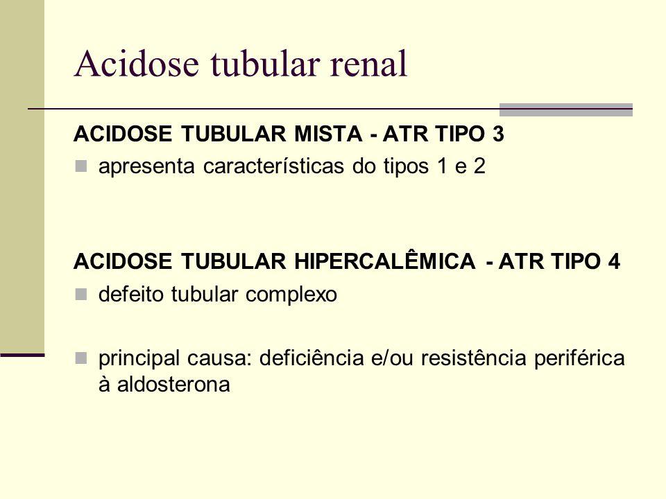 Acidose tubular renal ACIDOSE TUBULAR MISTA - ATR TIPO 3