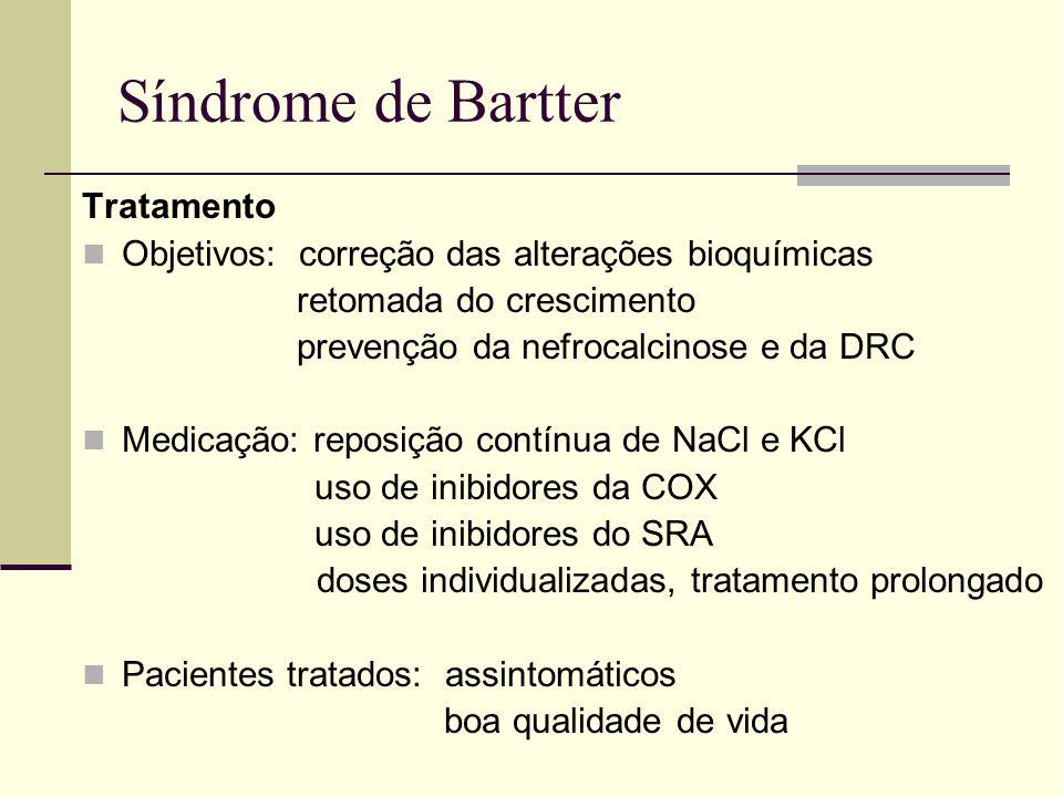 Síndrome de Bartter Tratamento