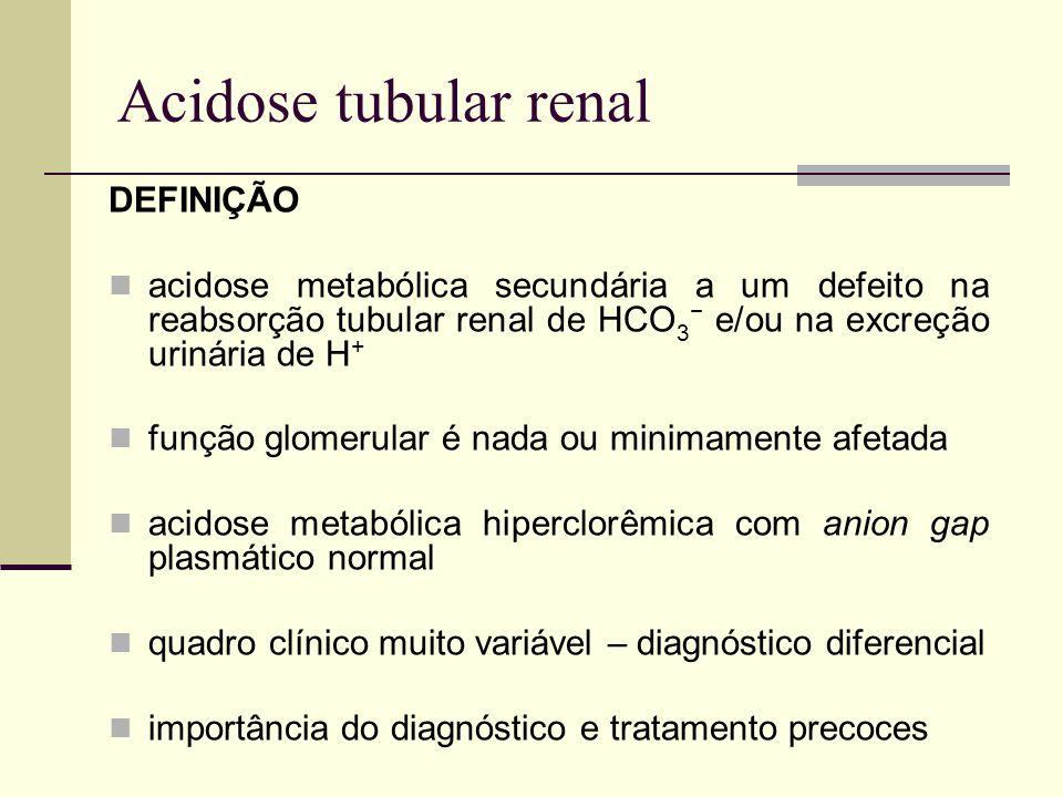 Acidose tubular renal DEFINIÇÃO