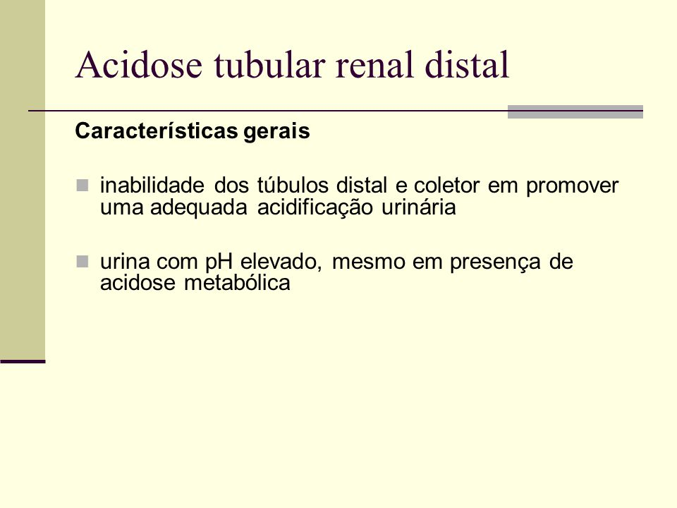 Acidose tubular renal distal