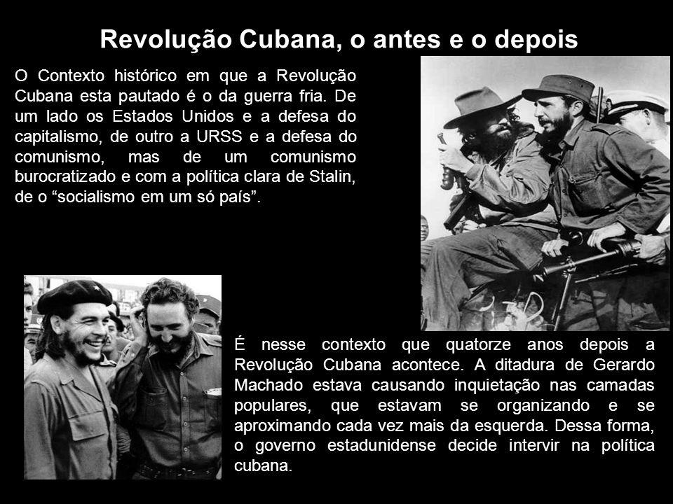 Revolução Cubana, o antes e o depois
