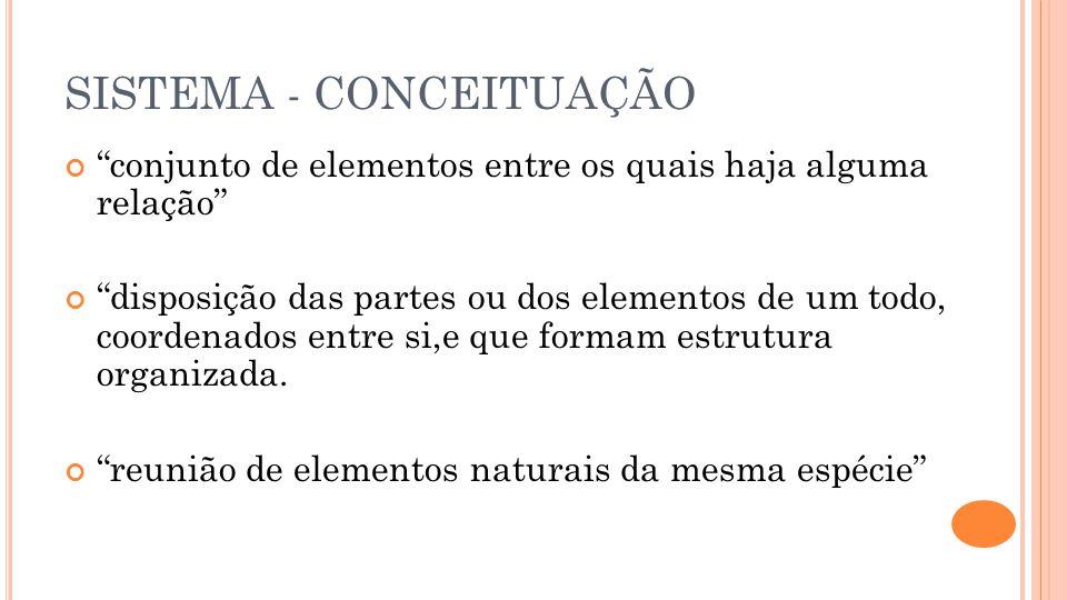 SISTEMA - CONCEITUAÇÃO