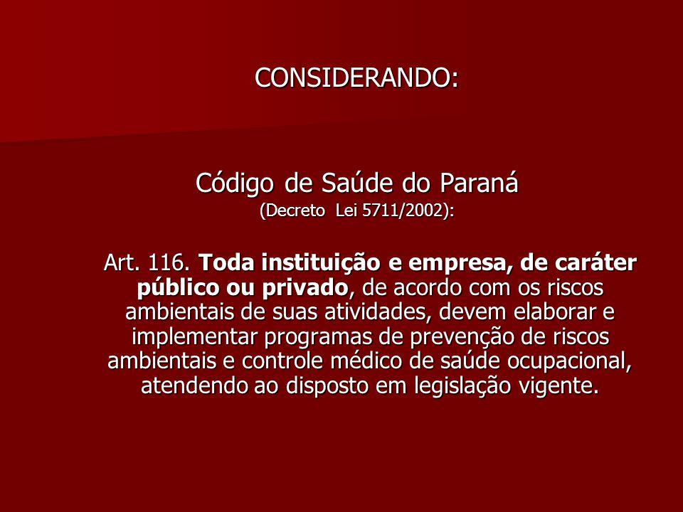 Código de Saúde do Paraná