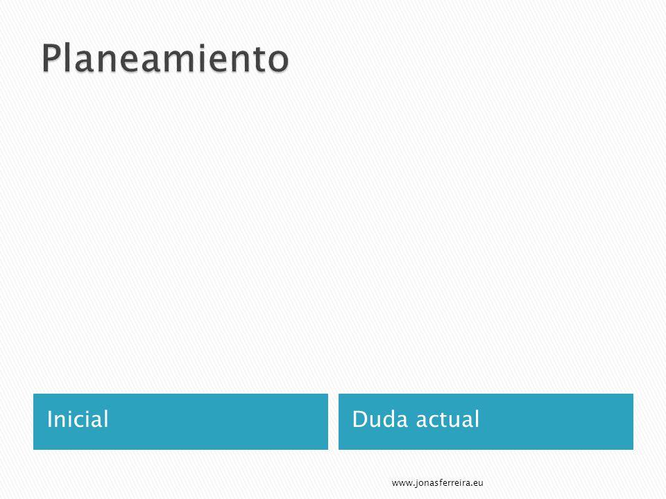 Planeamiento Inicial Duda actual www.jonasferreira.eu