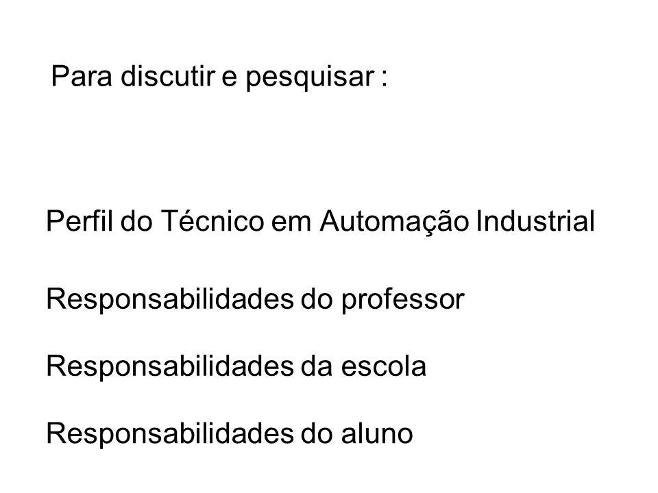 Perfil do Técnico em Automação Industrial