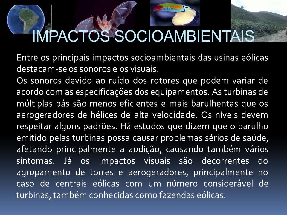 IMPACTOS SOCIOAMBIENTAIS