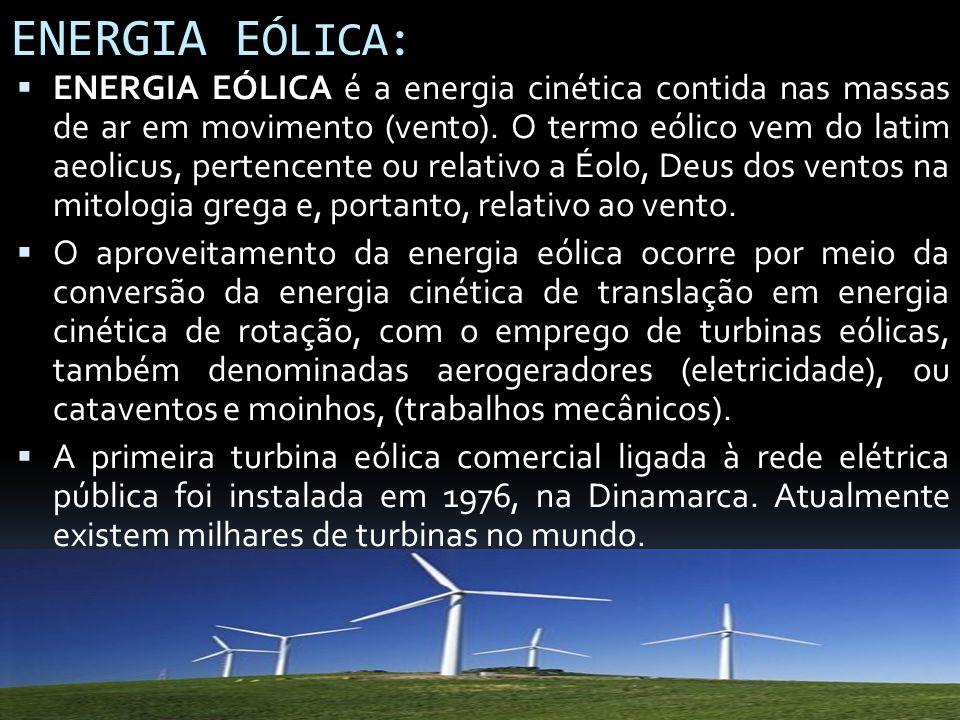 ENERGIA EÓLICA: