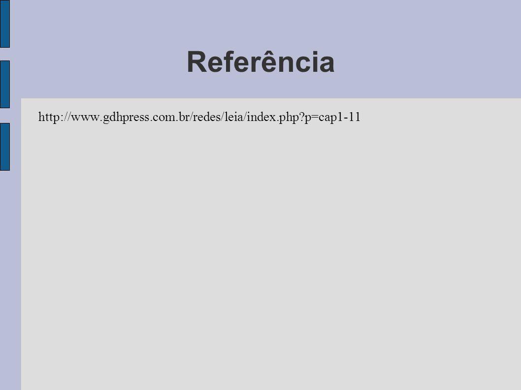 Referência http://www.gdhpress.com.br/redes/leia/index.php p=cap1-11