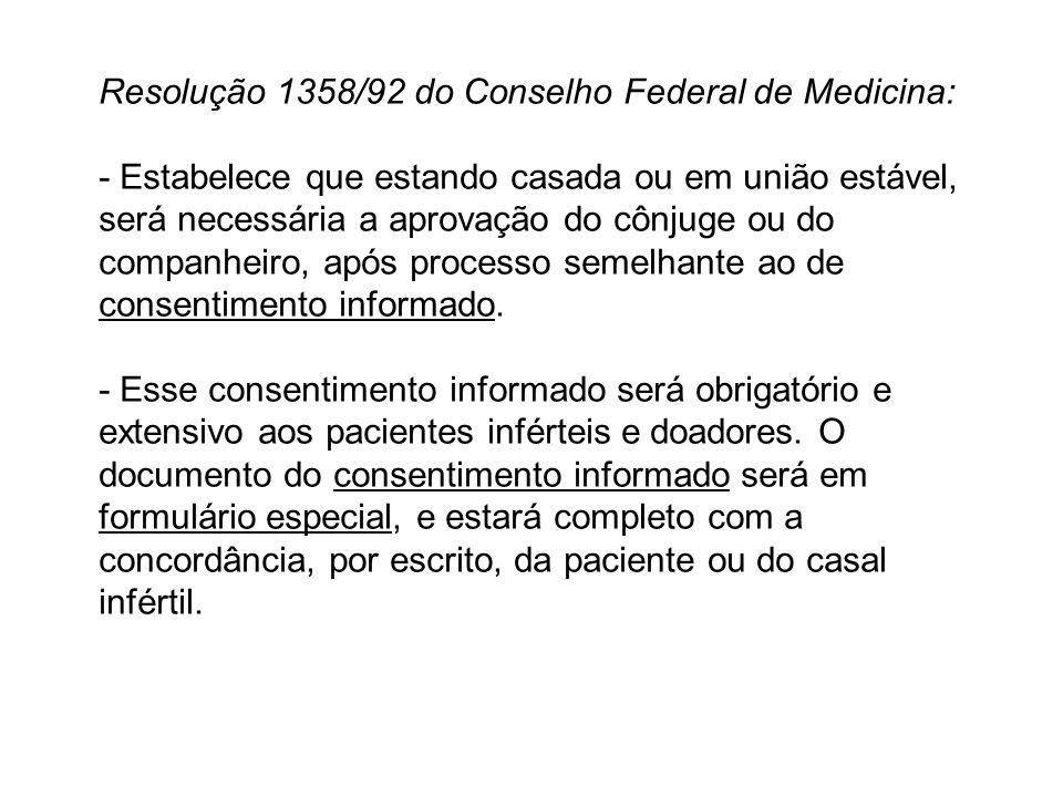 Resolução 1358/92 do Conselho Federal de Medicina: