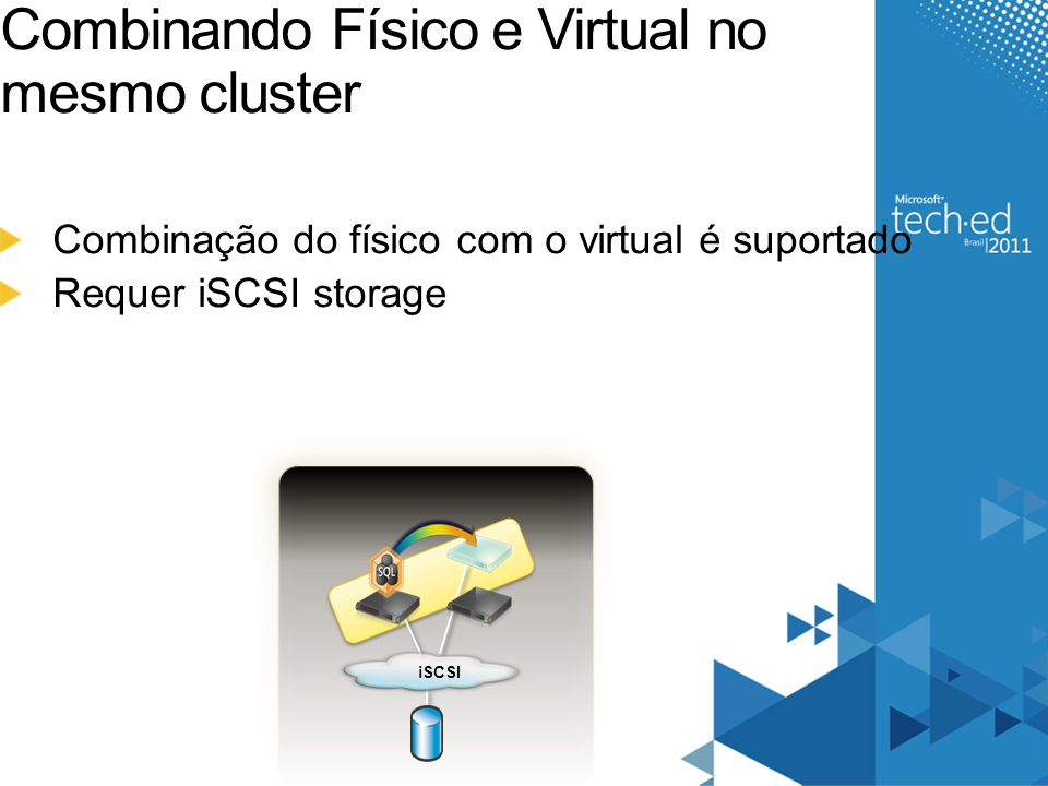 Combinando Físico e Virtual no mesmo cluster