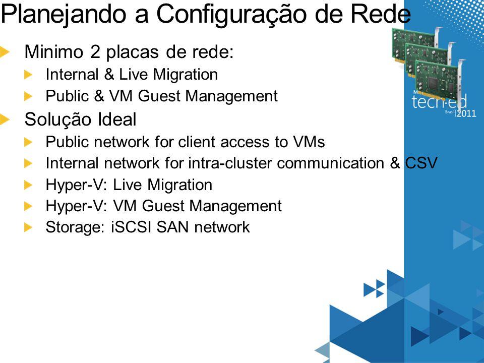 Planejando a Configuração de Rede