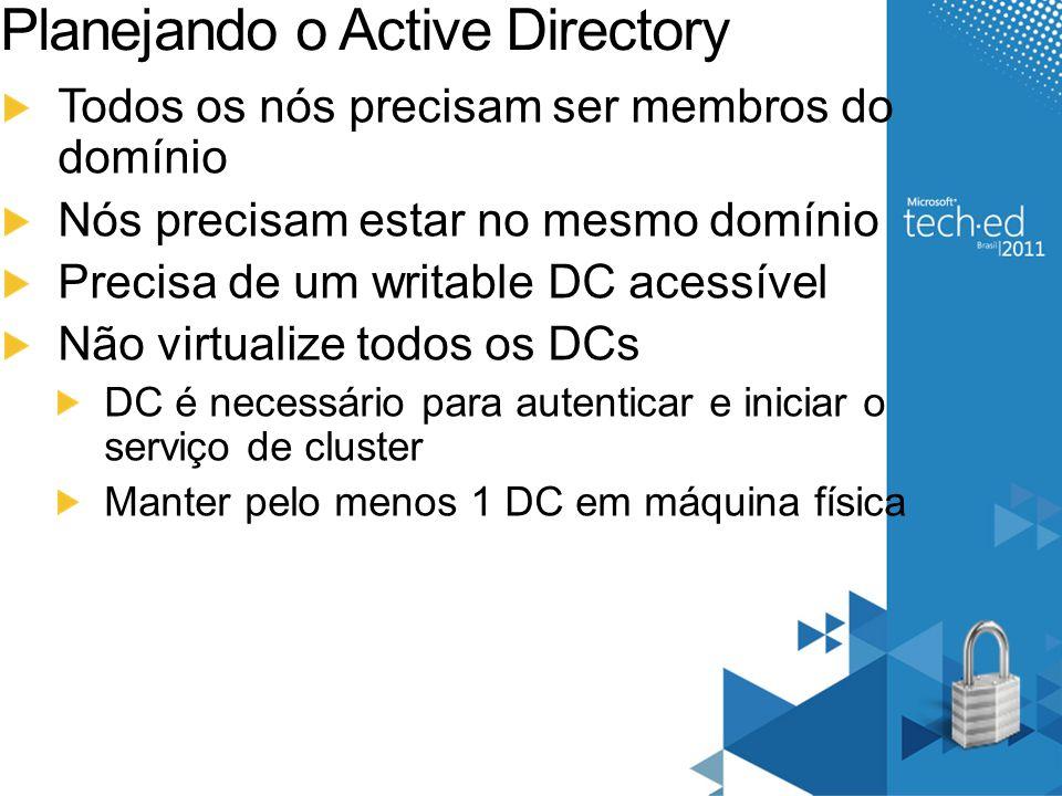 Planejando o Active Directory