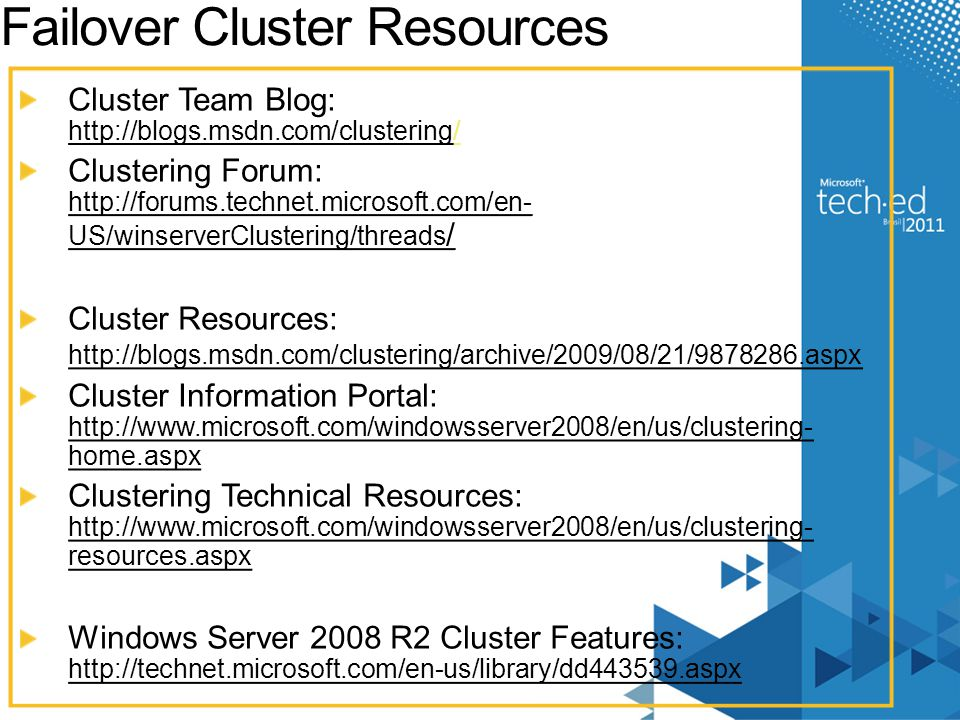 Failover Cluster Resources