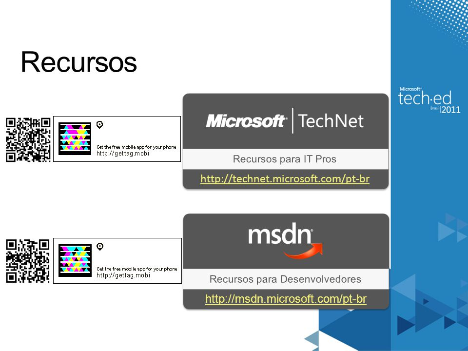 Recursos para Desenvolvedores