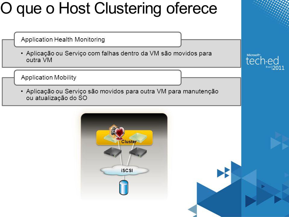O que o Host Clustering oferece