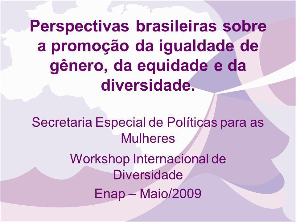 Workshop Internacional de Diversidade Enap – Maio/2009