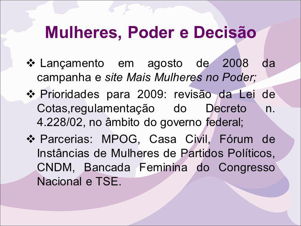 Mulheres, Poder e Decisão