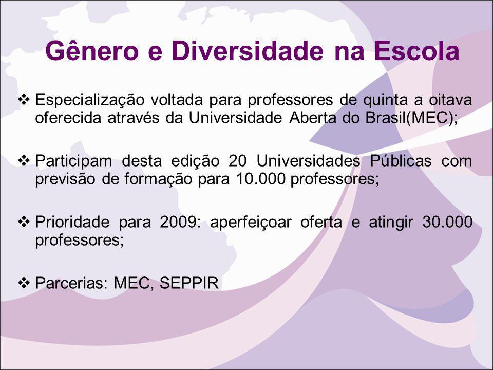 Gênero e Diversidade na Escola