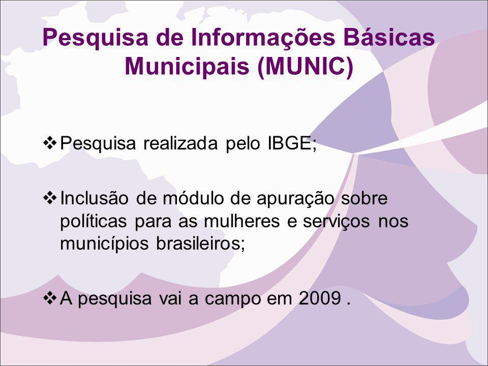 Pesquisa de Informações Básicas Municipais (MUNIC)