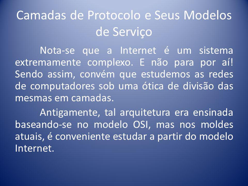 Camadas de Protocolo e Seus Modelos de Serviço