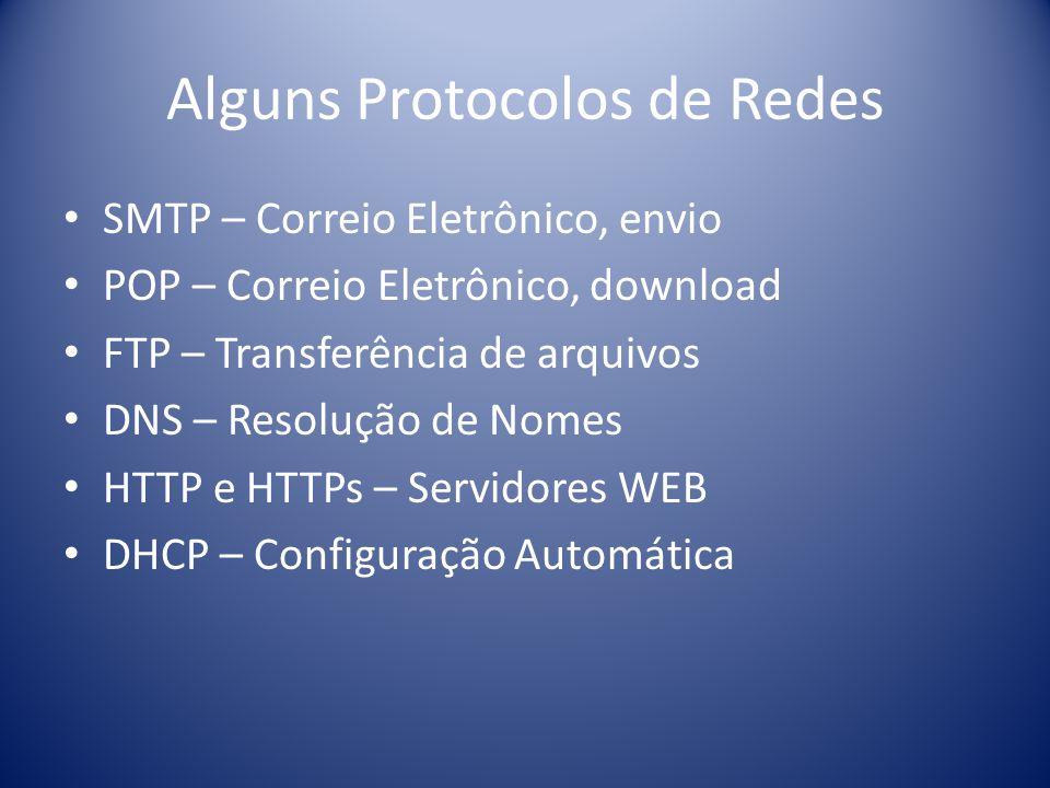 Alguns Protocolos de Redes