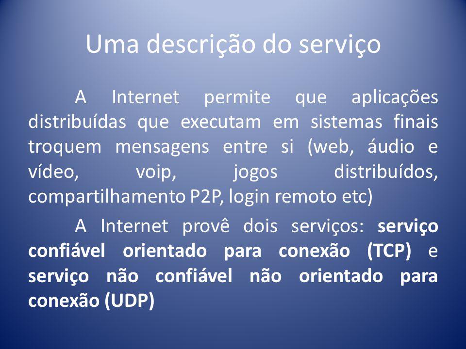 Uma descrição do serviço