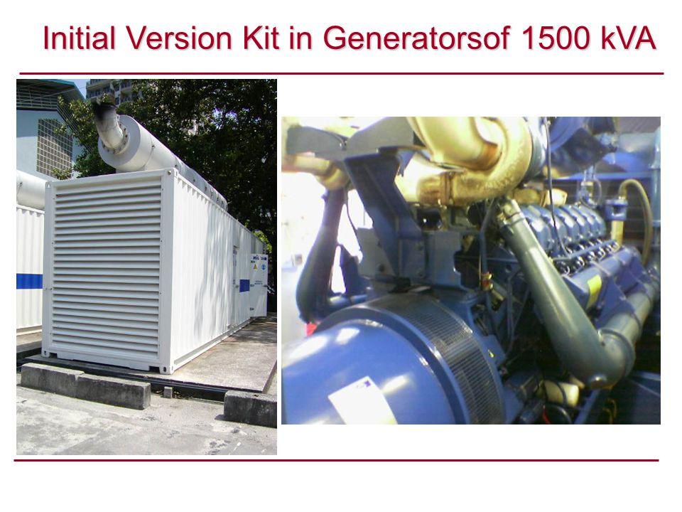 Initial Version Kit in Generatorsof 1500 kVA