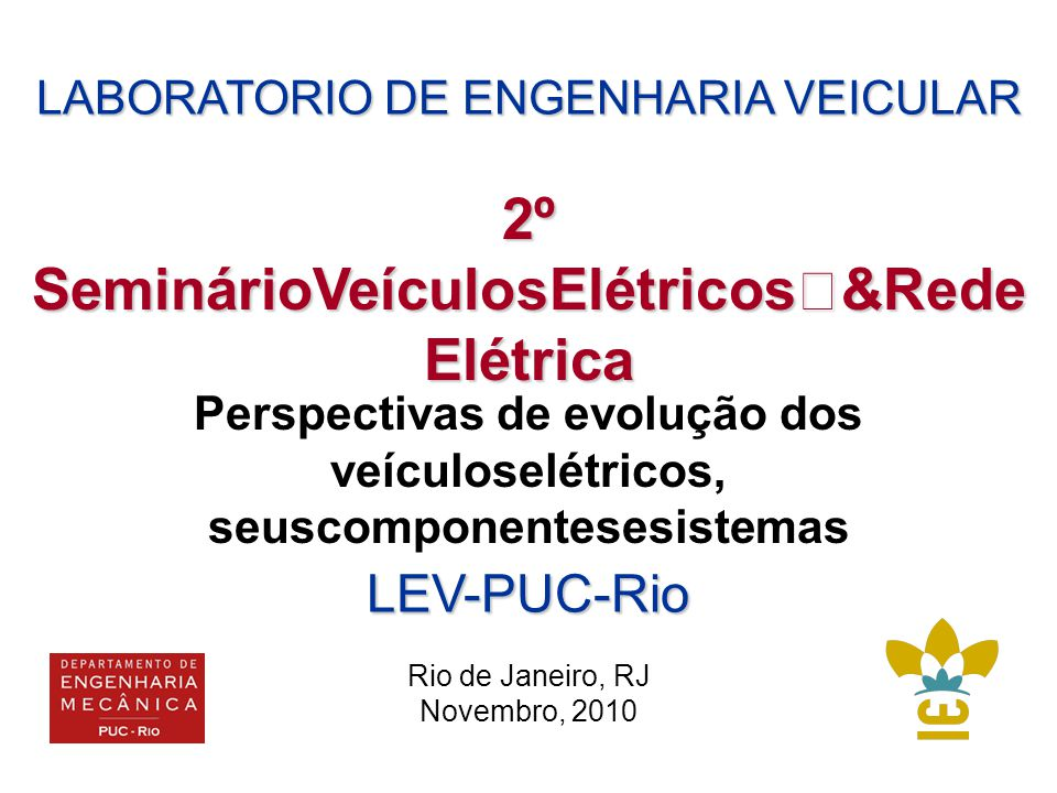 2º SeminárioVeículosElétricos &RedeElétrica