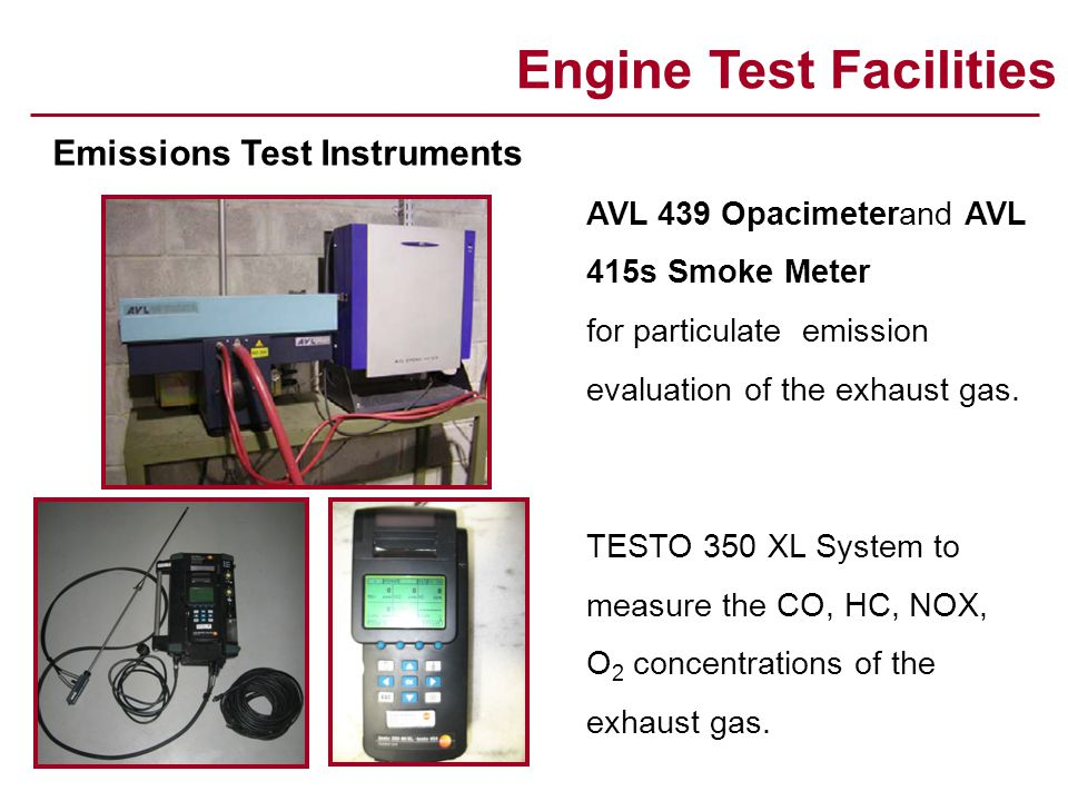 Engine Test Facilities