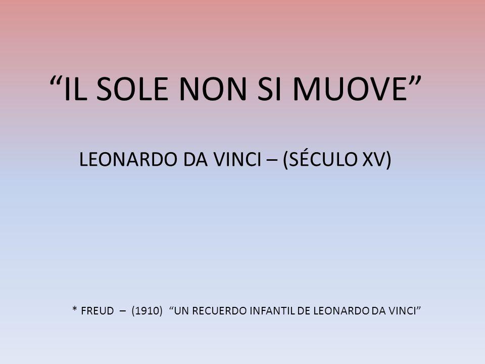 IL SOLE NON SI MUOVE LEONARDO DA VINCI – (SÉCULO XV)