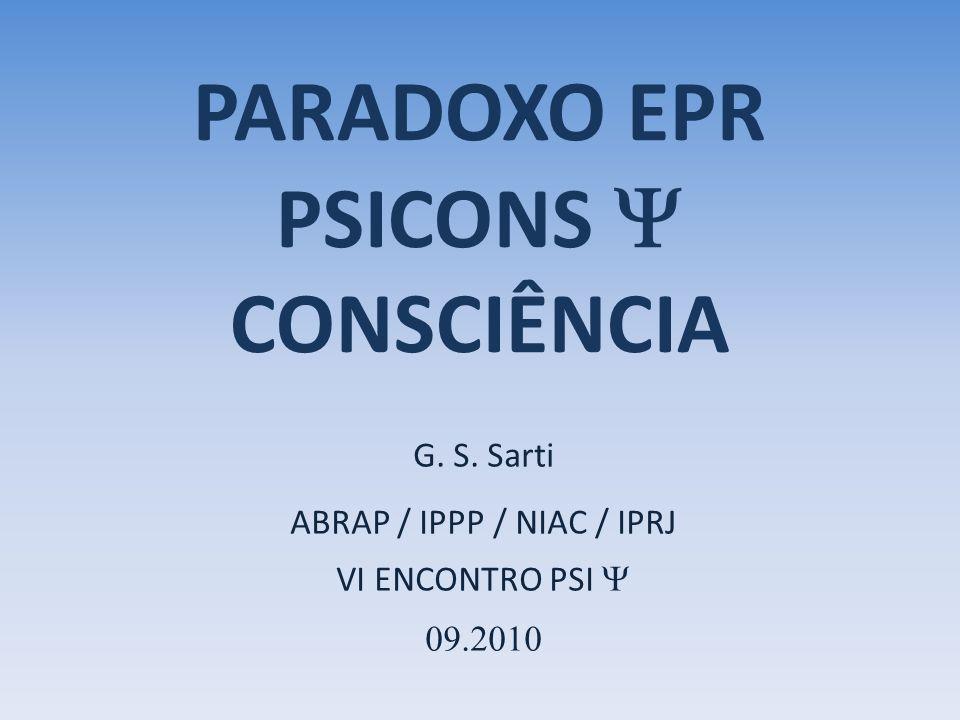 PARADOXO EPR PSICONS Y CONSCIÊNCIA