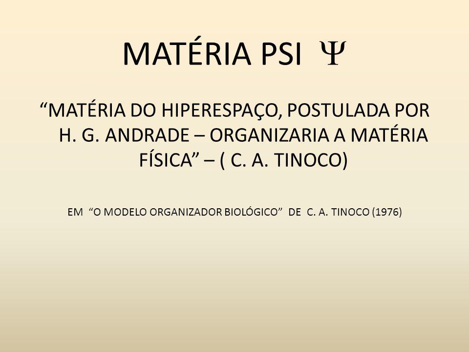 EM O MODELO ORGANIZADOR BIOLÓGICO DE C. A. TINOCO (1976)