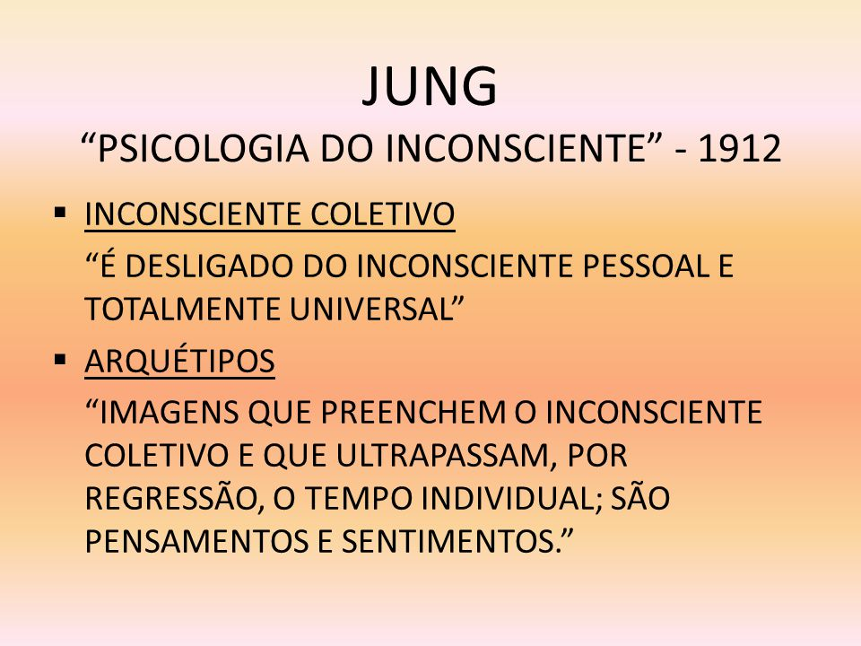 JUNG PSICOLOGIA DO INCONSCIENTE - 1912