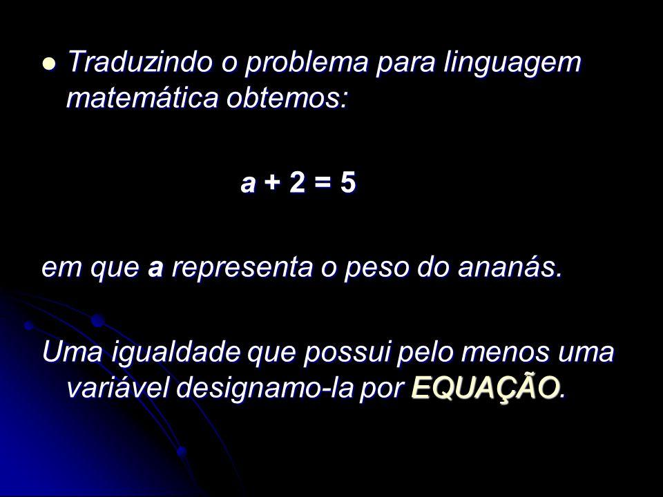 Traduzindo o problema para linguagem matemática obtemos: