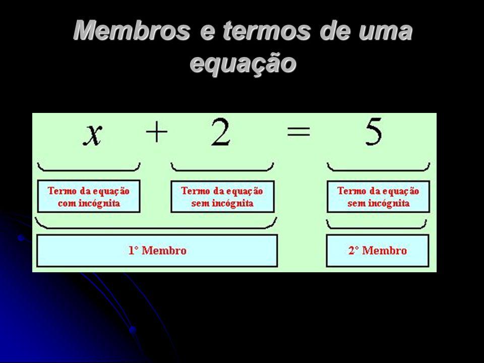 Membros e termos de uma equação