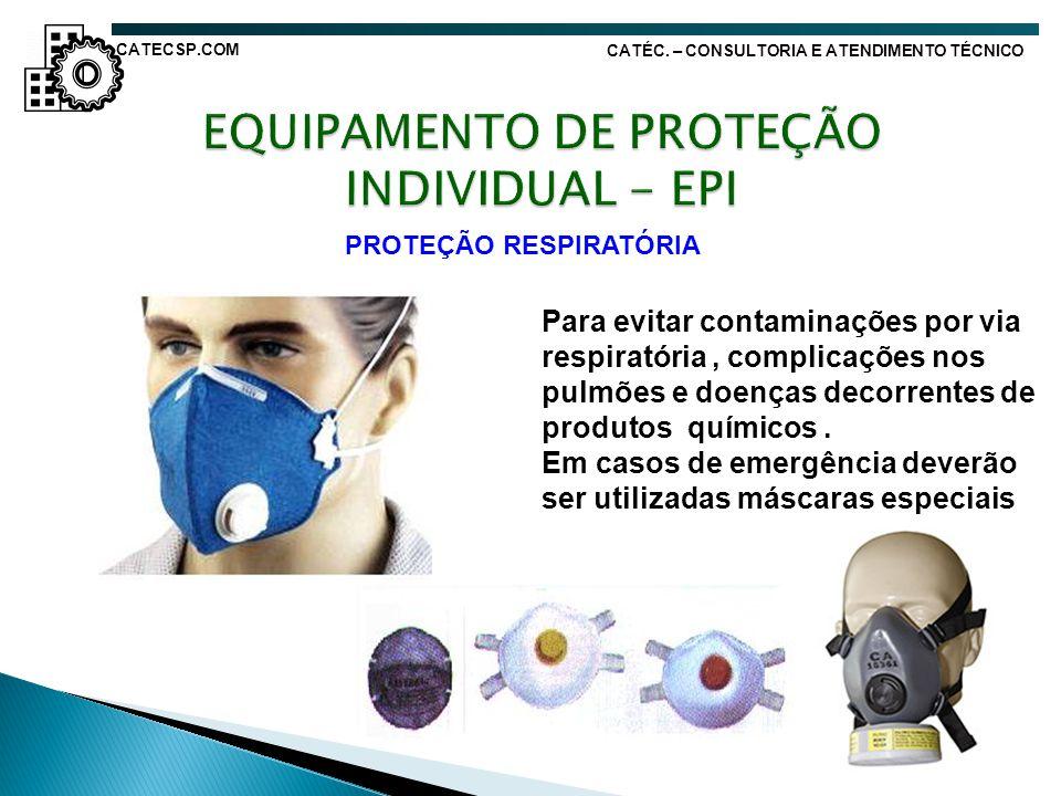 EQUIPAMENTO DE PROTEÇÃO INDIVIDUAL - EPI PROTEÇÃO RESPIRATÓRIA