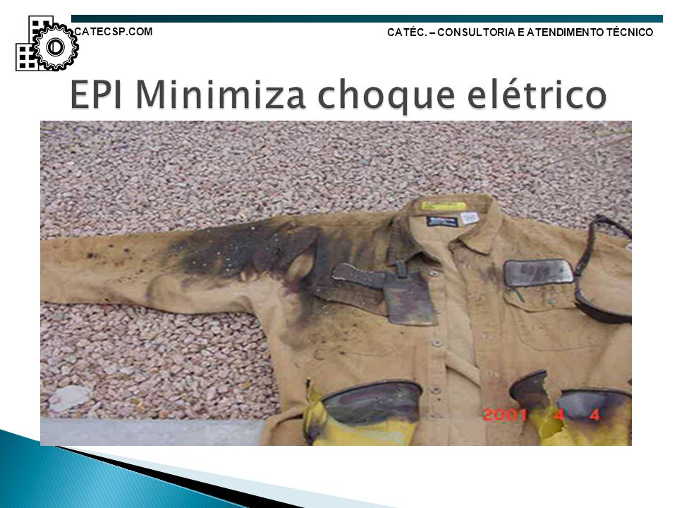 EPI Minimiza choque elétrico