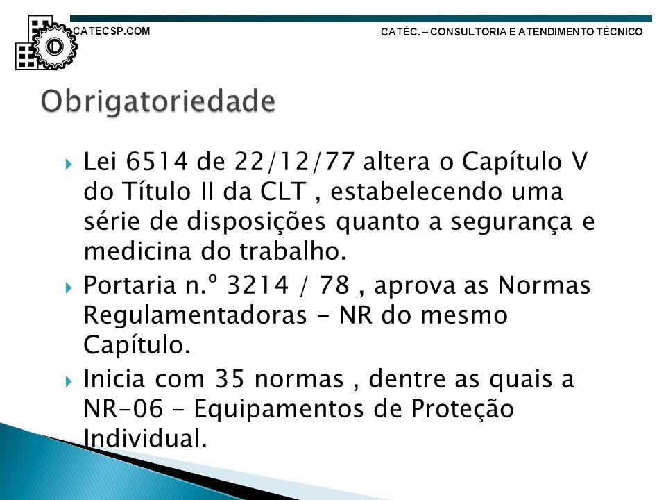 CATECSP.COM CATÉC. – CONSULTORIA E ATENDIMENTO TÉCNICO. Obrigatoriedade.