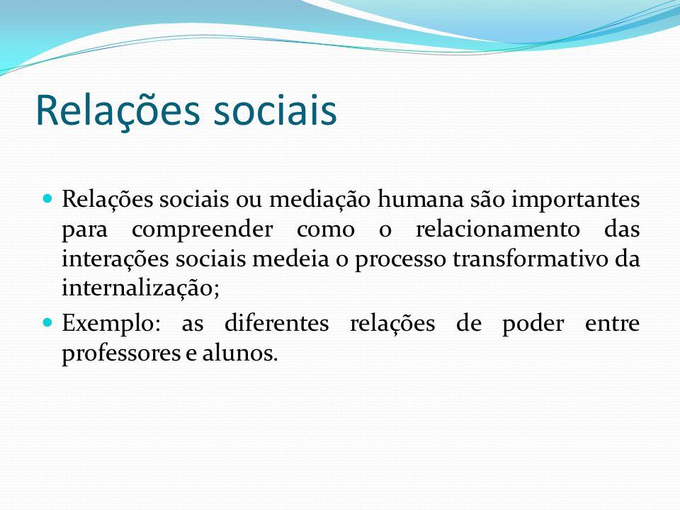 Relações sociais