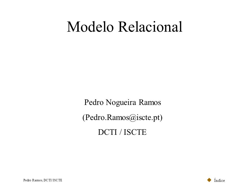 (Pedro.Ramos@iscte.pt)