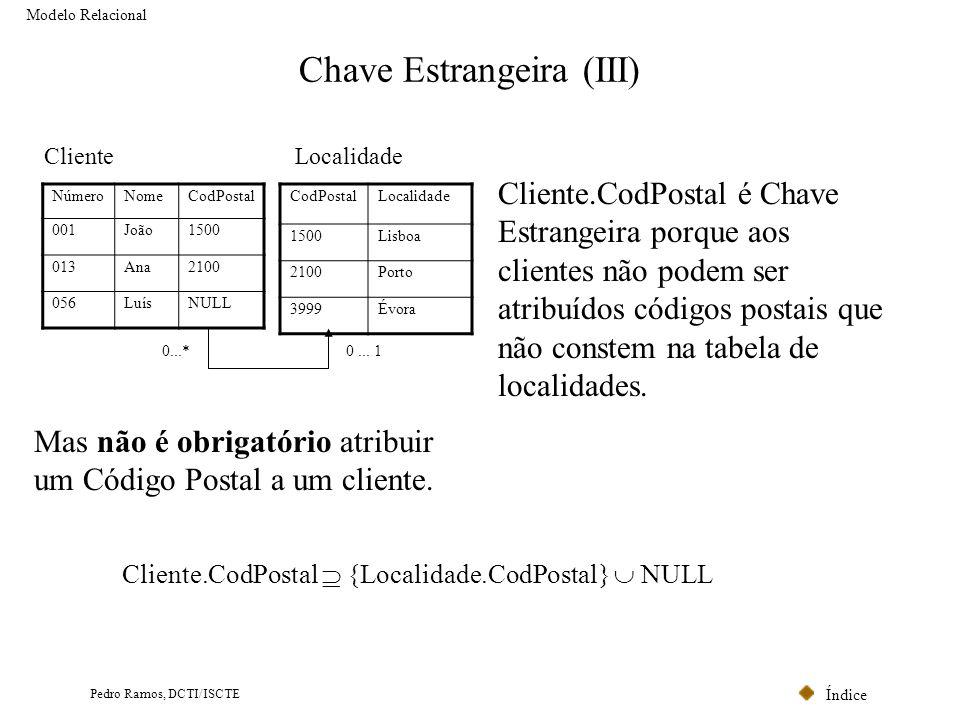 Chave Estrangeira (III)