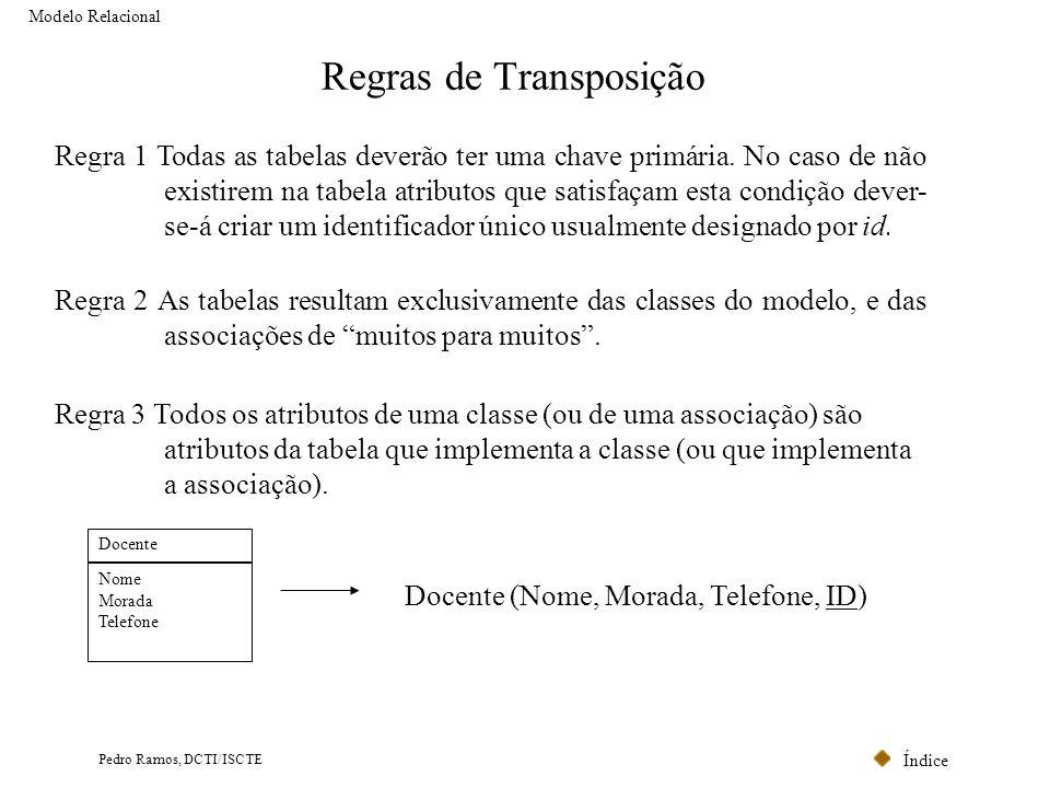 Regras de Transposição