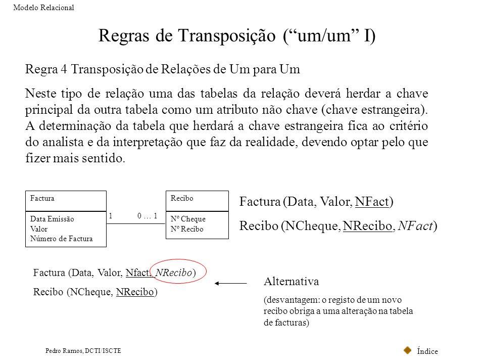 Regras de Transposição ( um/um I)