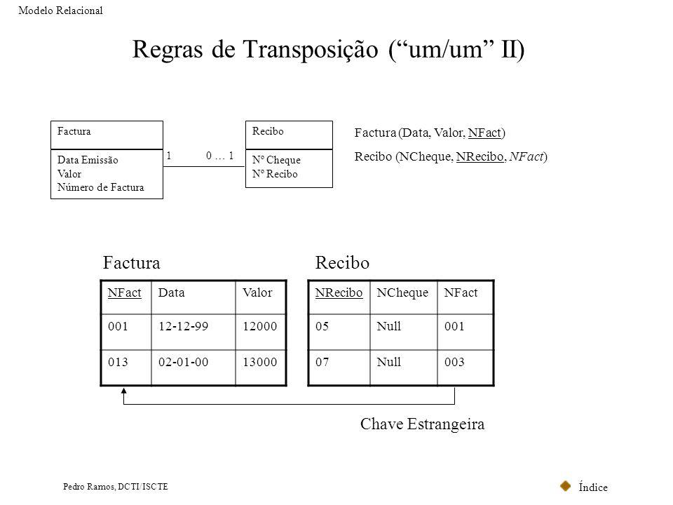 Regras de Transposição ( um/um II)