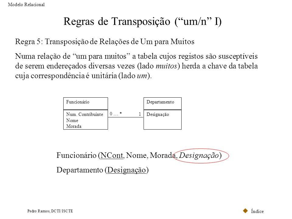 Regras de Transposição ( um/n I)
