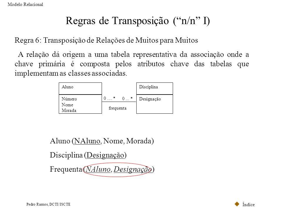 Regras de Transposição ( n/n I)